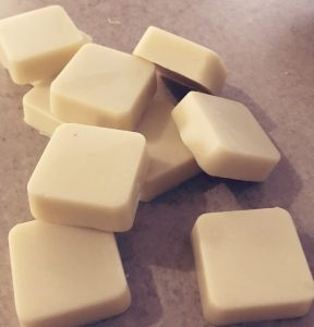 Learn how to make luxurious lotion bars. Easy, just 4 ingredient lotion bars.