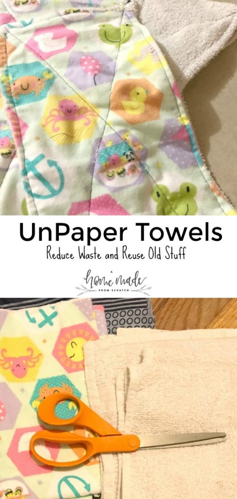 Make your own unpaper towels out of scraps for almost free!