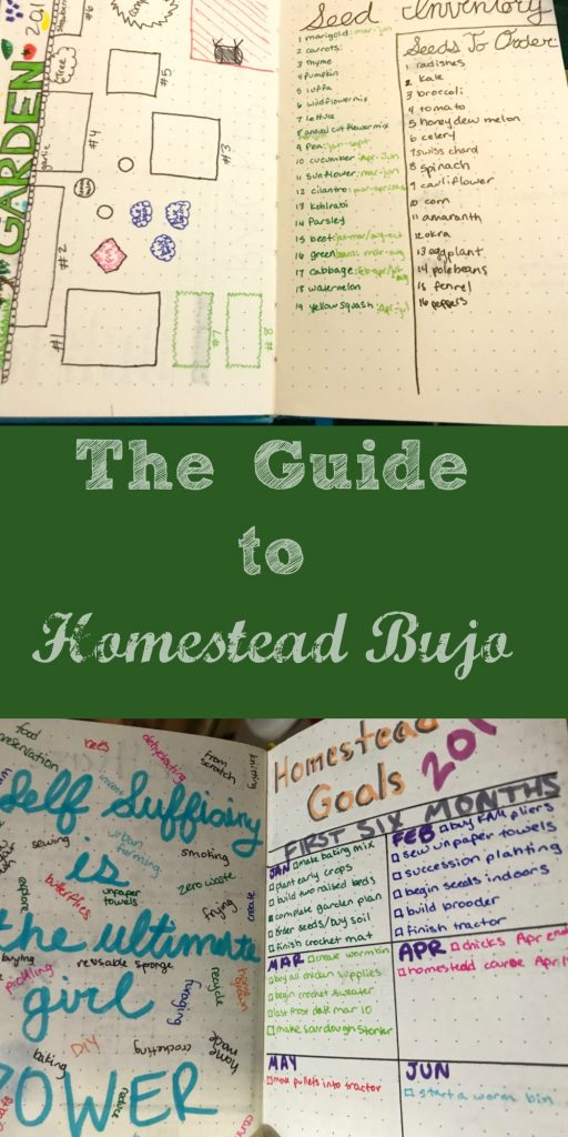 Learn how to use a bullet journal to help organize your homestead and provide inspiration.