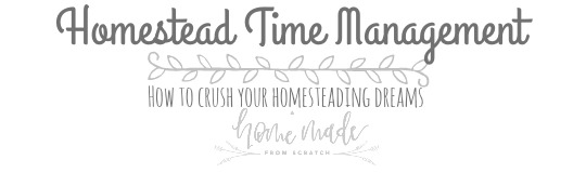 Learn how to manage your time to get stuff done on your homestead