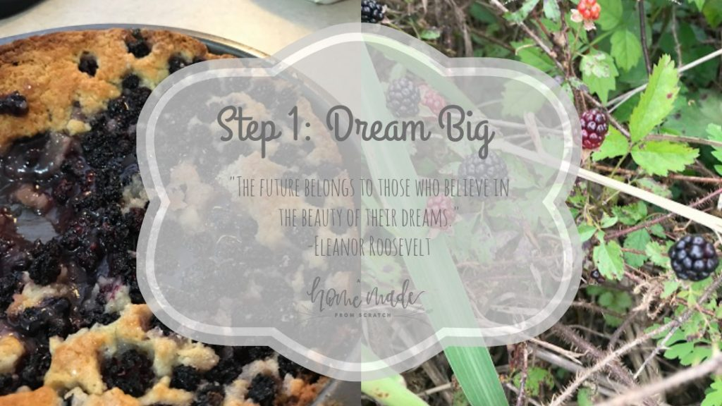 The first step for any plan is to have big dreams! Homesteading dreams are important when times get tough.
