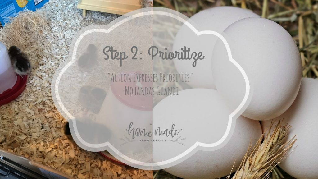 Step 2 prioritize your goals to start your homestead journey