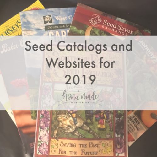 Seed Catalogs for 2019