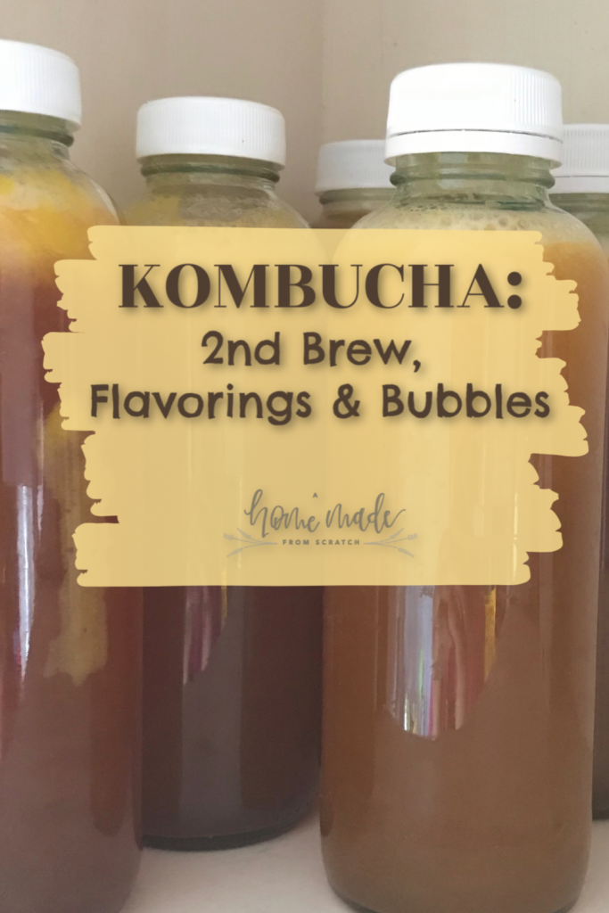 Kombucha flavorings to make at home with your own kombucha.