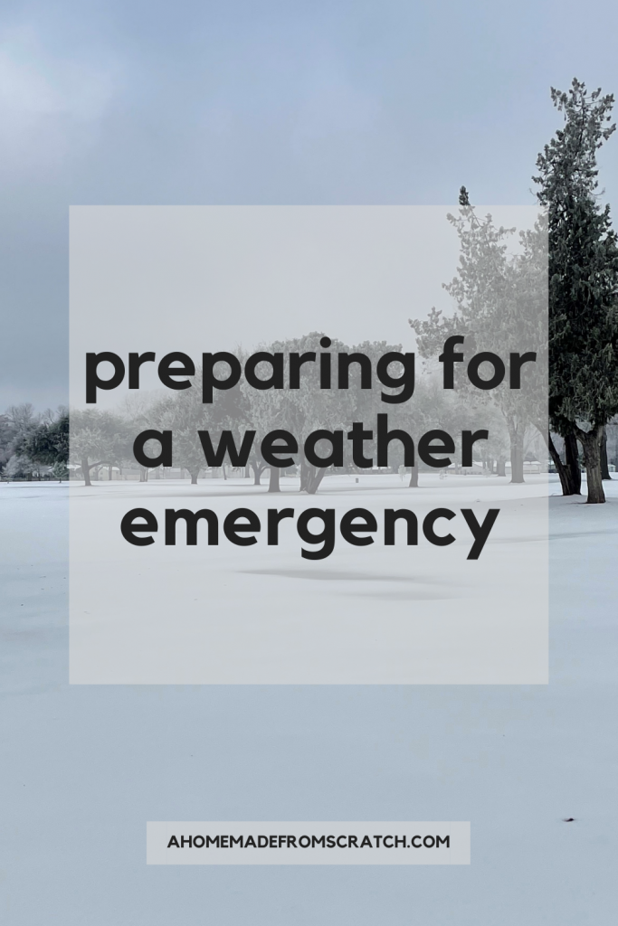 preparing for a weather emergency